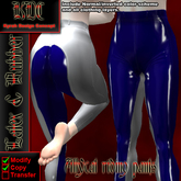 KDC Allycat latex riding pants (white & blue)