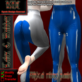 KDC Allycat latex riding pants (white & light blue)