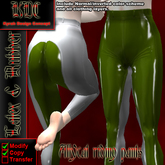KDC Allycat latex riding pants (white & olive)