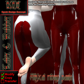 KDC Allycat latex riding pants (white & red)