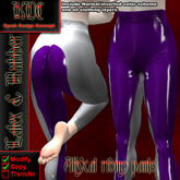 KDC Allycat latex riding pants (white & purple)