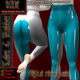 KDC Allycat latex riding pants (white & sblue)