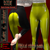 KDC Allycat latex riding pants (black & yellow)