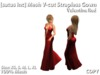 [satus Inc] Mesh V-Cut Strapless Gown - Valentine Red