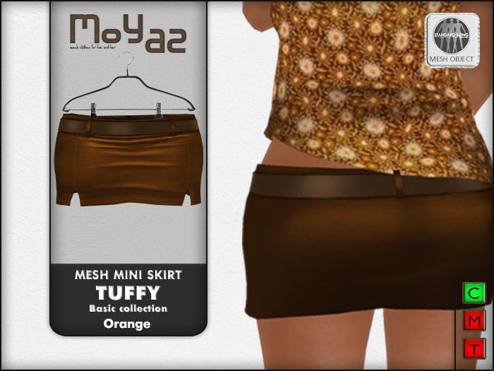 Tuffy Mesh Miniskirt~ basic collection - Orange