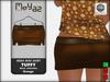 Tiffy mesh miniskirt orange