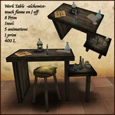 Alchemist,Apothecary, work table with animations