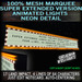 Deluxe Mesh Marquee Super EXTENDED double length