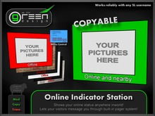 ●GD● Online Indicator Station [IM Pager, Photo Slideshow, shows Online Status of ANY Avatar, COPYABLE] Tracker Board