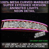 Deluxe Curved Mesh Marquee Super EXTENDED Edition