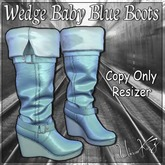 Wedge Baby Blue Boots