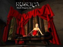Rustica - Mesh Drapery Set 22 piece drape and curtain rod set, includes shadow maps