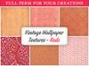 [croire textures] vintage wallpaper (reds) (boxed)