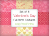 [croire textures] Valentine's Day Textures (8 full perm patterns)