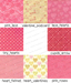 Valentines day girly pink textures key
