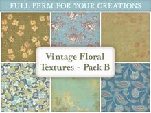 [croire textures] vintage floral (pack b) (boxed)