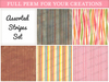 [croire textures] Assorted Stripe Textures (set of 6 stripes patterns)