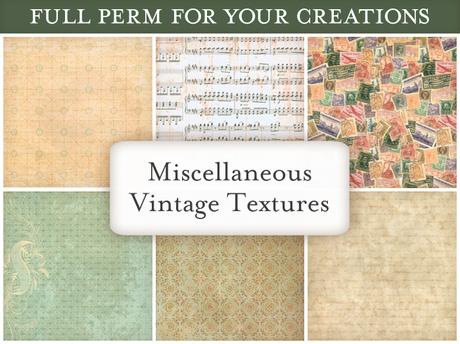 [croire textures] Miscellaneous Vintage Textures (set of 6 antique distressed vintage textures)