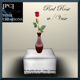 [PC] RED ROSE W/VASE (Boxed)