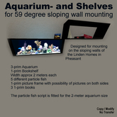 Aquarium- and Shelves for 59 degree sloping wall mounting