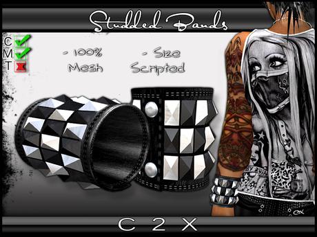 ~C2X~ Studded Wristbands