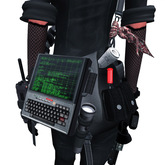 Mesh Sloppy Space Tool Bag with Green Screen Handheld Computer
