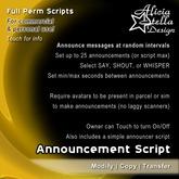 Announcement Script - Full Perm Scripts