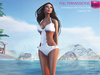Swimwear with front frills