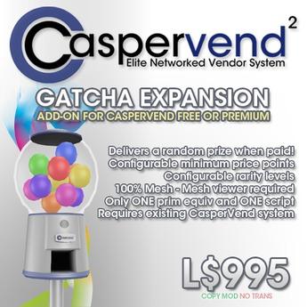 CasperVend2 Gacha! Expansion Pack - Gatcha Gumball Machine, lucky dip!