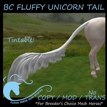 Fluffy Unicorn Tail for BC Mesh Horse
