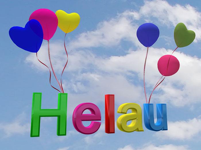 "Sign ""Helau"" for Carneval / Mardi Gras"