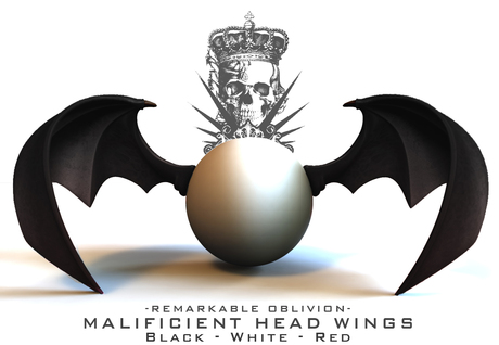 RO - Malificient Head Wings - Red/Black/White Pack