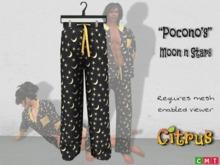 *Citrus* Poconos III Moon n Stars Mens PJ
