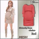 Maternity Dress <Sasha>  Red