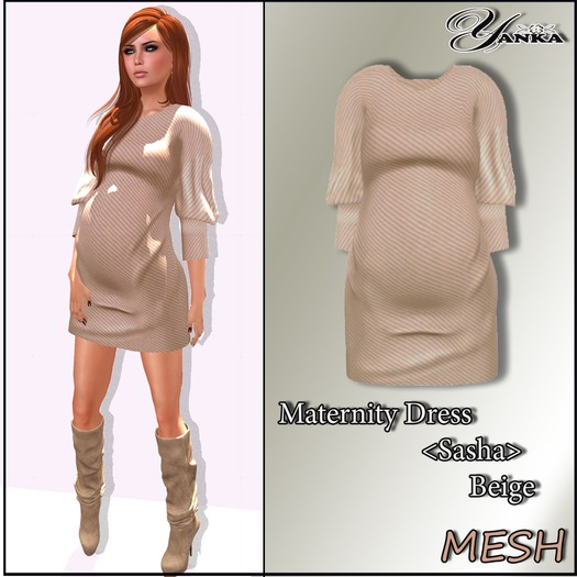 Maternity Dress <Sasha>  Beige