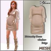 Maternity Dress <Sasha>  Beige