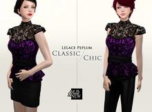 (O&N) LeLace Peplum in Violet