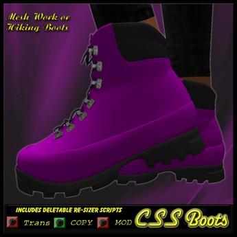 Safe Girl Womens work boots (Purple