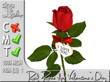 Red Rose for Valentine`s Day MT 100% original mesh