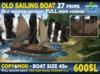 OLD SAILING BOAT 27 prims MOD COPY MESH Sailing ship 45m long