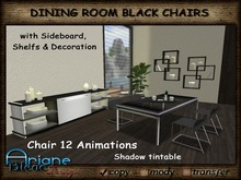 Dining Room black Chairs *Stool & Table*