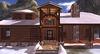 Adirondack mesh log home  mesh house  mesh snow  entrance