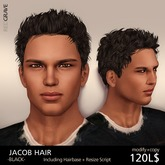 Hairstyle JACOB - Black - REDGRAVE