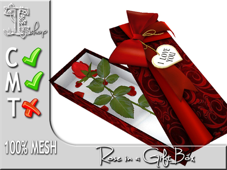 Rose in a Gift Box MC 100% original mesh