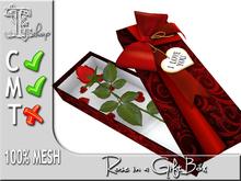 Rose in a Gift Box MC 100% original mesh