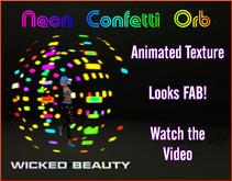 Neon Confetti Orb