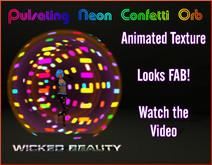 Pulsating Neon Confetti Orb
