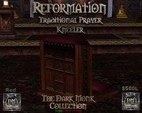 DM Reformation Prayer Kneeler - Red