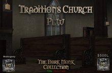 DM Traditions - Church pew set - Mahogony