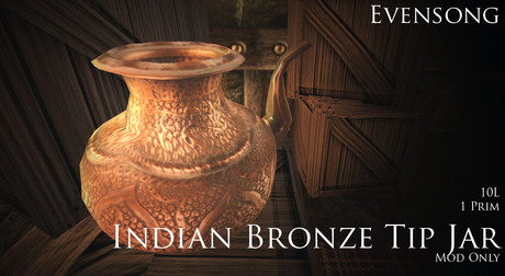 Evensong Indian Bronze Donation Box [BOXED]
